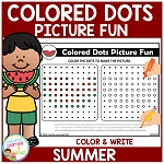 Colored Dots Picture Fun: Summer ~Digital Download~