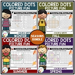Colored Dots Picture Fun: Seasons Bundle ~Digital Download~