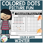 Colored Dots Picture Fun: Winter ~Digital Download~