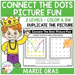 Connect the Dots Picture Fun - Mardi Gras ~Digital Download~