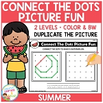 Connect the Dots Picture Fun - Summer ~Digital Download~