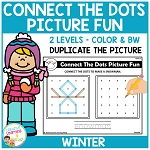 Connect the Dots Picture Fun - Winter ~Digital Download~