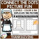 Connect the Dots Picture Fun - Thanksgiving ~Digital Download~