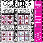 Counting Picture Clip Cards 0-10: Valentine's ~Digital Download~