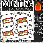 Counting Ten Frame Clip Cards 0-10: Chinese New Year ~Digital Download~
