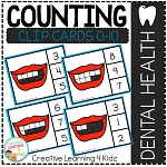 Counting Ten Frame Clip Cards 0-10: Mouth Dental Health ~Digital Download~
