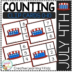 Counting Ten Frame Clip Cards 0-10: July 4th Stars ~Digital Download~