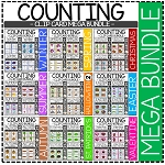 Counting Picture Clip Cards 0-10: MEGA Bundle ~Digital Download~