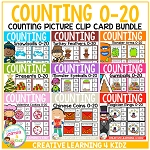 Counting Picture Clip Cards 0-20: Bundle ~Digital Download~