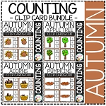 Counting Picture Clip Cards 0-10: Autumn 2 ~Digital Download~