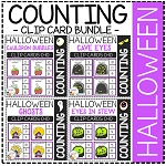 Counting Picture Clip Cards 0-10: Halloween ~Digital Download~