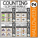 Counting Picture Clip Cards 0-10: Halloween 2 ~Digital Download~