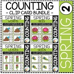 Counting Picture Clip Cards 0-10: Spring 2 ~Digital Download~