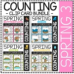 Counting Picture Clip Cards 0-10: Spring 3 Bundle ~Digital Download~
