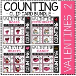 Counting Picture Clip Cards 0-10: Valentine's Day 2 ~Digital Download~