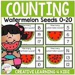Counting Picture Clip Cards 0-20: Watermelon Seeds ~Digital Download~