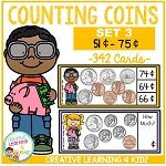 Money Counting Coins Card Set 3 ~Digital Download~