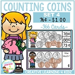 Money Counting Coins Card Set 4 ~Digital Download~