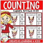 Counting Picture Clip Cards 0-20: Valentine Cupid's Arrows ~Digital Download~