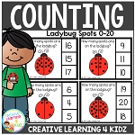 Counting Picture Clip Cards 0-20: Ladybug Spots ~Digital Download~