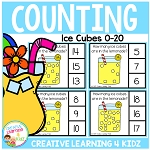 Counting Picture Clip Cards 0-20: Lemonade Ice Cubes ~Digital Download~