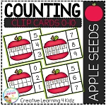 Counting Ten Frame Clip Cards 0-10: Apple Seeds ~Digital Download~