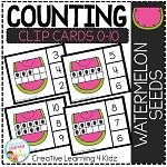 Counting Ten Frame Clip Cards 0-10: Watermelon Seeds ~Digital Download~