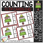 Counting Ten Frame Clip Cards 0-10: Christmas Tree ~Digital Download~
