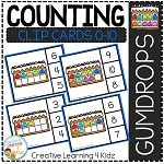 Counting Ten Frame Clip Cards 0-10: Gumdrop ~Digital Download~