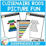 Cuisenaire Rods Picture Fun: Independence Day ~Digital Download~