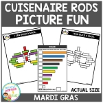 Cuisenaire Rods Picture Fun: Mardi Gras ~Digital Download~