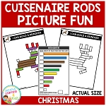 Cuisenaire Rods Picture Fun: Christmas ~Digital Download~
