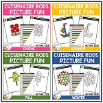 Cuisenaire Rods Picture Fun: Seasons Bundle ~Digital Download~
