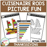 Cuisenaire Rods Picture Fun: Thanksgiving ~Digital Download~