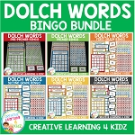 Dolch Words Bingo Board Bundle ~Digital Download~
