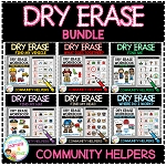 Dry Erase Community Helper Workbook: Bundle ~Digital Download~