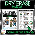 Dry Erase Community Helper Workbook: Find Me ~Digital Download~