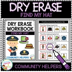 Dry Erase Community Helper Workbook: Find My Hat ~Digital Download~