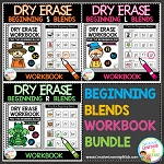 Dry Erase Beginning Blends Workbook Bundle ~Digital Download~