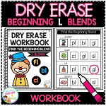 Dry Erase Beginning Blends Workbook: L Blends ~Digital Download~