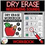 Dry Erase Workbook: Beginning Sounds ~Digital Download~