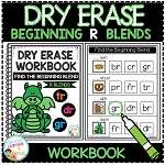 Dry Erase Beginning Blends Workbook: R Blends ~Digital Download~