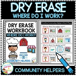 Dry Erase Community Helper Workbook: Where Do I Work? ~Digital Download~