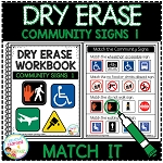 Dry Erase Community Signs Workbook 1: Match it ~Digital Download~