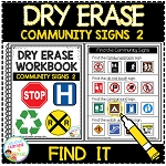 Dry Erase Community Signs Workbook 2: Find it ~Digital Download~