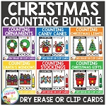 Dry Erase Counting Book/Cards or Clip Cards: Christmas Bundle ~Digital Download~