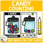 Dry Erase Counting Book/Cards or Clip Cards: Halloween Candy ~Digital Download~