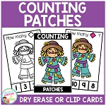 Dry Erase Counting Book/Cards or Clip Cards: Fall Patches ~Digital Download~