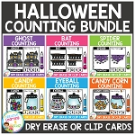 Dry Erase Counting Book/Cards or Clip Cards: Halloween Bundle ~Digital Download~