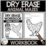 Dry Erase Workbook: Animal Mazes ~Digital Download~